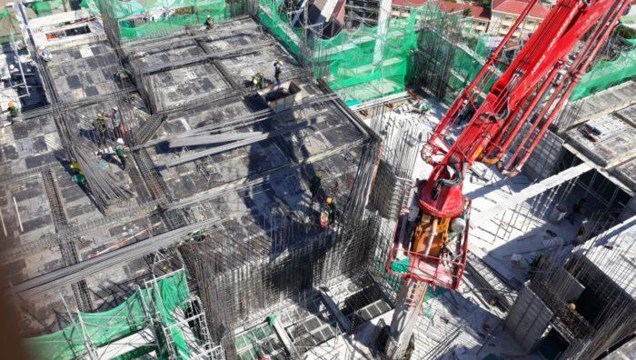 Dù thời tiết nắng nóng nhưng tiến độ dự án Scenia Bay vẫn được đảm bảo.